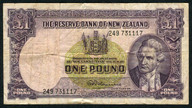 New Zealand - 1 Pound - 249 Prefix - Fleming - 249 371117
