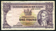 New Zealand - 1 Pound - 226 Prefix - Fleming - 226 243230