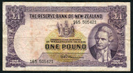 New Zealand - 1 Pound - 165 Prefix - Fleming - 165 505421