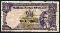 New Zealand - 1 Pound - B/49 Prefix - Hanna - B/49 774693