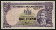 New Zealand - 1 Pound - 9/L Prefix - Hanna - 9/L 330125