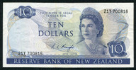 New Zealand - $10 Note - Knight - 21Y 700816