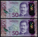 New Zealand - $50 Polymer Pair - Wheeler - BA16 727000 728000