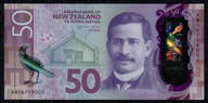 New Zealand - $50 Polymer Note - Wheeler - AQ16 719000