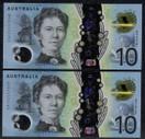 Australia - 2017 - $10 Consecutive Pair EA17 - EA172557048  EA172557049