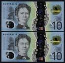 Australia - 2017 - $10 Consecutive Pair EA17 - EA172557051  EA172557052