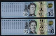 Australia - 2017 - $10 Consecutive Run AA17 - AA171434076 - AA171434097