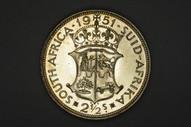 South Africa - 1951 - 2½ Shillings - KM39.2 - Proof - Gem