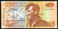 New Zealand - $5 Note - Brash - 'Type 2' - AC Prefix - AC913523
