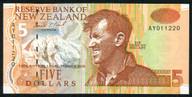 New Zealand - $5 Note - Brash - 'Type 3' - AY Prefix - AY011220