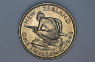 New Zealand - 1948 - Shilling - KM17 - Extremely Fine
