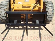 "Skid Steer Hay Bale Mover 3-48"" Spears 5' wide heavy duty  Frame, Hay Spears are tapered, forged and heat treated Bale spears are rated at 3000# at a 30"" load center."