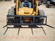 "Skid steer Hay Bale Stacker 4-48"" spears, 6' frame, hay spear for skid steer, loader hay spear, hay spears  mc"