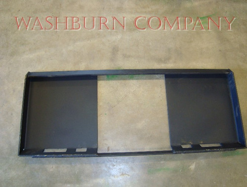 Blank Skid Steer Adapter Plate for Skid Steer Attachments C1  double reinforced on the bottom