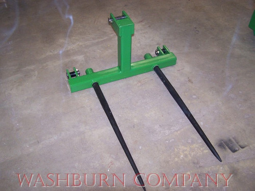"3 point Hay Bale Mover Cat 1 Quick Coupler 2-48"" Spear, 3 point hay bale spear, 3 point bale mover, tractor 3 point attachments mc"