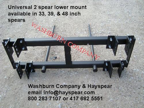 hay bale spear loader, hay bale spear for implement, hay bale fork, round bale spear, hay  spikes, universal bale spear   mc