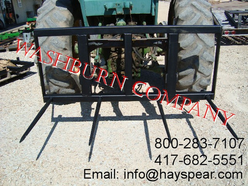 """3 Point Heavy Duty Hay Mover 4 spear with 39"""" Long Spikes. Individual hay spears or hay spikes are rated at 3000 lbs. at 30"""" load center"""