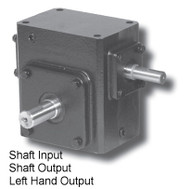 Worm Gear Reducers Shaft Input- Shaft Output Box Size 175
