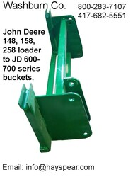 John Deere 148-158 Loader to John Deere 600-700 Attachments