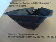 """Plastic auger hopper for 4"""" 6"""" & 8"""" augers"""