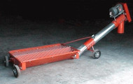 "Self Powered Swing Hopper 8"" to 10' Incline Auger Roll Around"