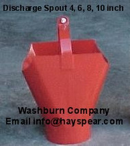 "Discharge Outlet Spout For 6"" Utility & Bulk Tank Augers"