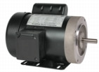 Electric motor 1.5 hp 1 phase TEFC 56cb Frame  2 yr warranty