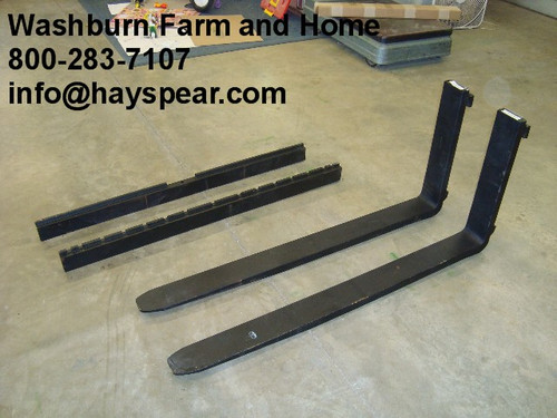 """Pallet Forks 48"""" 4000 lb capacity Pair w/ class 2 clips"""