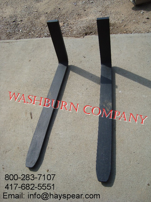"48"" Pallet Forks  4"" x 1 3/8"" Thick, 4000# Pair Certified"