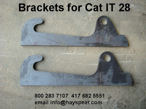 Attachment Bracket pair to fit Cat IT 28 Loader Hitch
