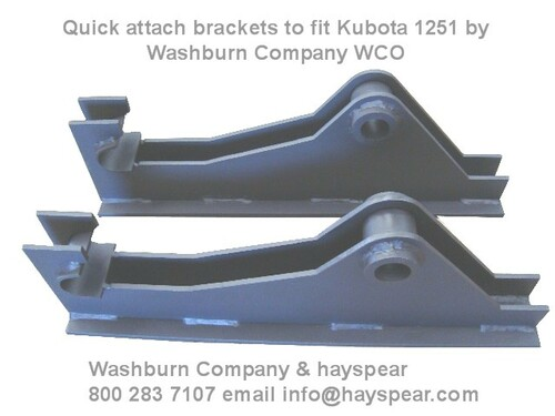 Kubota 1251 Loader Attachment Brackets (pair)