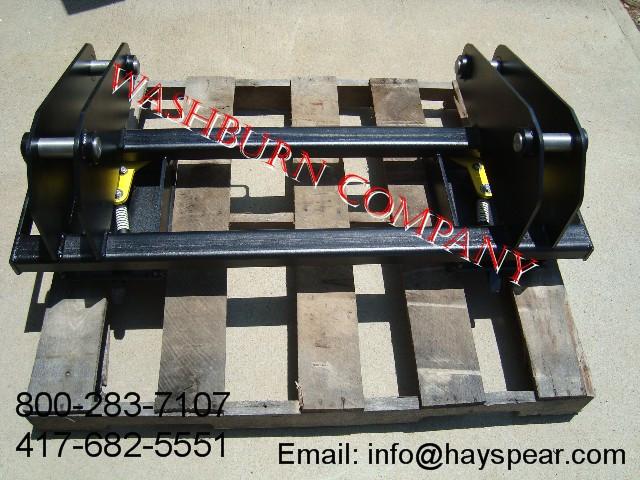 Quick Hitch Adapter Convert 580K CASE to Skid Steer Bobcat