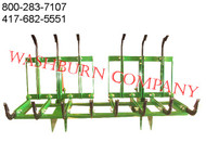 7' Twin Grapple Fits John Deere 600 & 700 grapple skidder, brush mover, trash removal, grapple bucket, grapple excavator