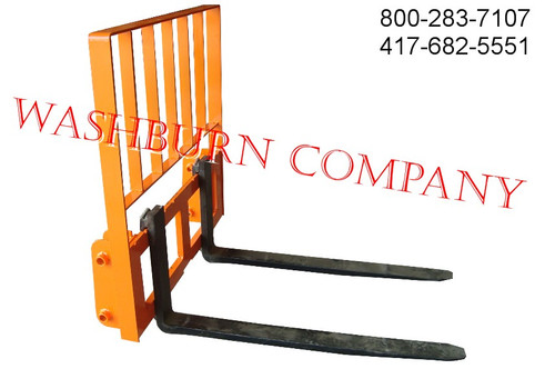 KUBOTA PIN ON STYLE PALLET FORK with 4000# capacity forks with rack