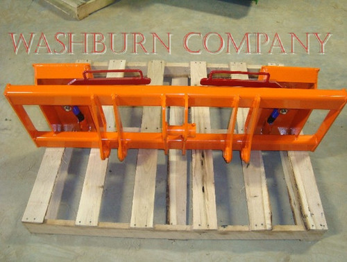 "Kubota R310 Loader To Skid Steer Attachments Adapter Two crossbar design keeps the face of thee latch boxes in line and keeps them from twisting and going out of alignment. Latch box sides are 1/2"" thick and are made from grade 50 plate for added strength."