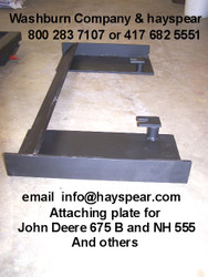 JD 675B & NH 555 Attaching Plate