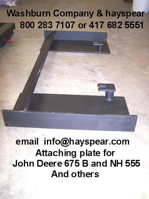 JD 675B & NH 555 Attaching Plate