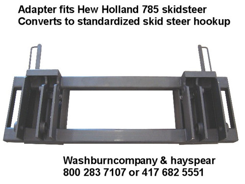 Quick attach Adapter NH 445 & 545 Loader to Skid Steer Attachment