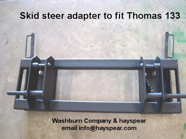 Quick Hitch Adapter Thomas 133 to Skid Steer Attachments