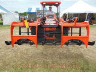 6' Wide Complete Heavy Duty Twin Hay, Brush & Rock Grapple