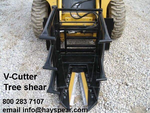 V Cutter Tree Shear with Hydraulic Grapple Arms