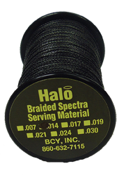 BCY Halo Braided .014 Serving Black Bowstring Material