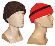 Knit Cap Brown Reversible to Blaze