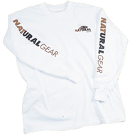 Natural Gear Long Sleeve Logo T-Shirt White 2Xlarge