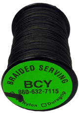 BCY 350 Nylon Braid .015 Serving Black 125YD Spool Bowstring Material