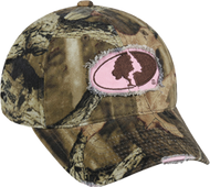 Outdoor Cap Womens Mossy Oak Breakup Infinity Frayed Hat