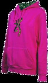 Signature Womens Buckmark Camo SweaT-Shirt Fushia Large
