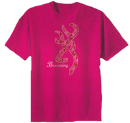 Signature Youth Short Sleeve Pink Camo T-Shirt Medium