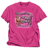 Buck Wear Ribbons & Bows & Camo Pink T-Shirt Youth Large