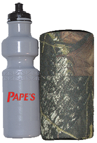 Western Water Bottle w/Camo Insulated Carrier